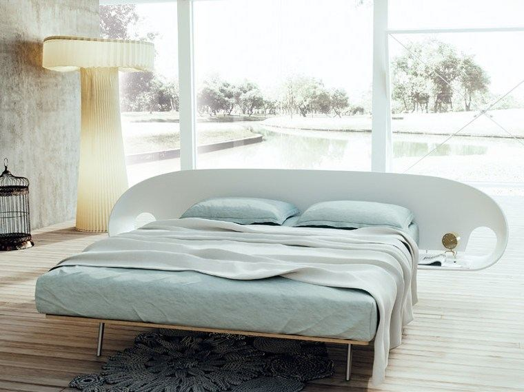 Wooden double bed INFOLIO by Caccaro