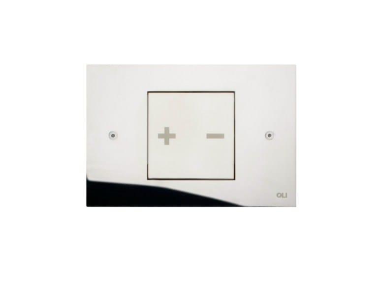 Glossy steel flush plate INO-X 01 | Glossy steel flush plate - OLI