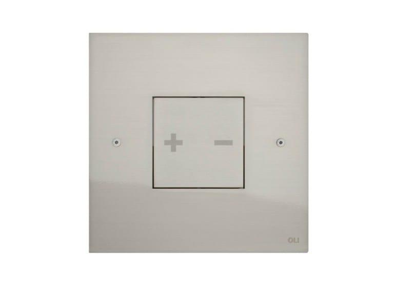 Brushed steel flush plate INO-X 03 | Brushed steel flush plate - OLI