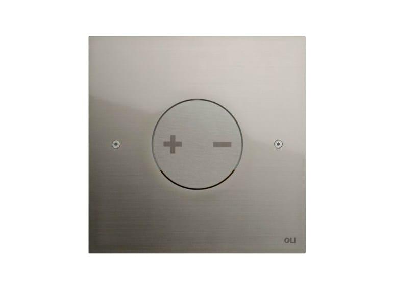 Brushed steel flush plate INO-X 04 | Brushed steel flush plate - OLI