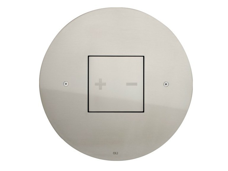 Brushed steel flush plate INO-X 05 | Brushed steel flush plate - OLI