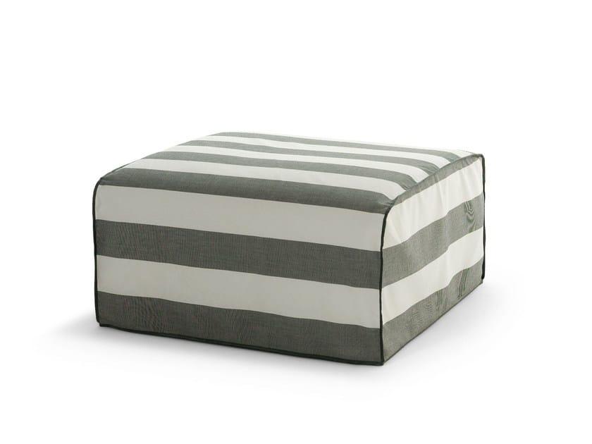 Square fabric garden pouf INOUT 408 - Gervasoni