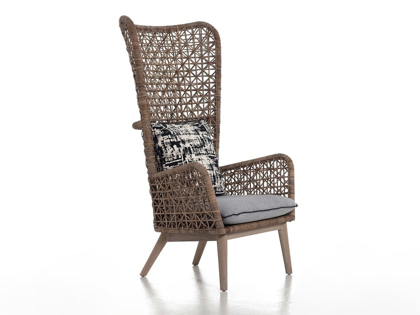 Bergere rattan armchair INOUT 630 by Gervasoni
