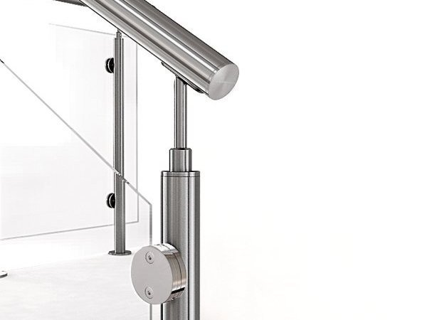 Glass and steel balustrade INOX21 by Fontanot Spa