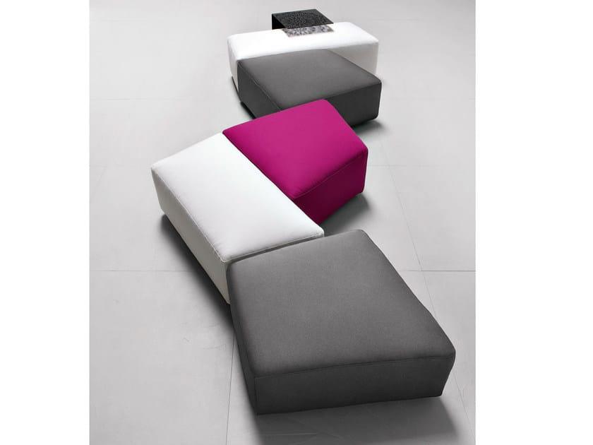 Upholstered fabric pouf INSIEME   Pouf - PIANCA
