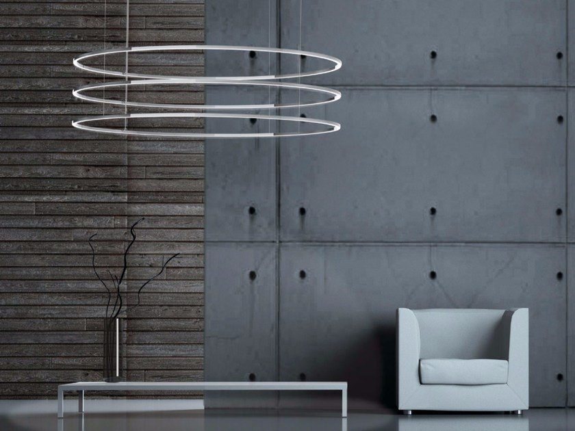 LED aluminium pendant lamp with dimmer INSIEME - Sattler
