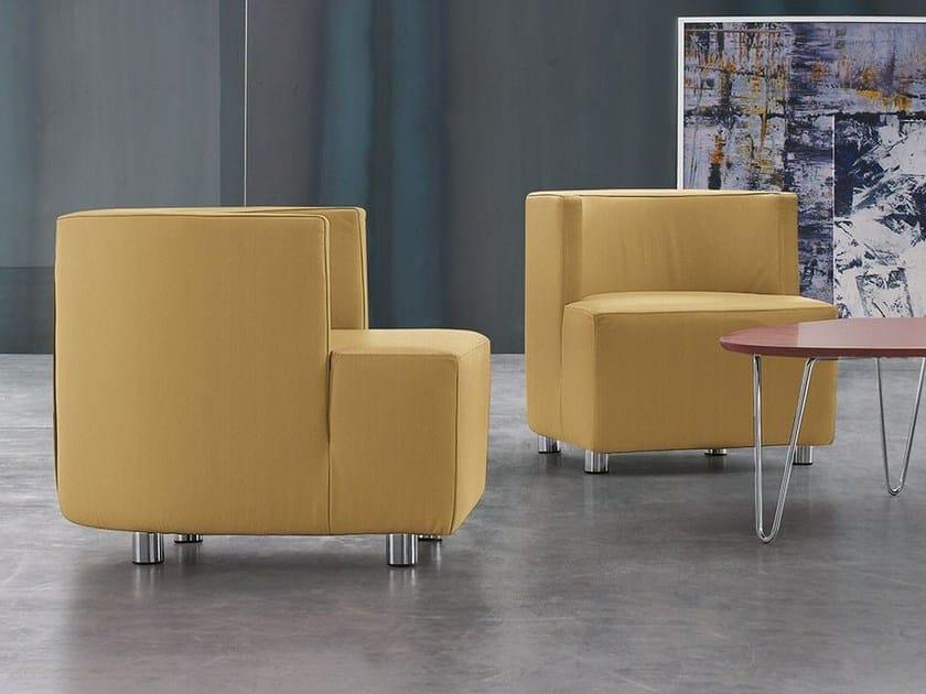 Upholstered polyurethane armchair with armrests INTERNOS - ALIVAR