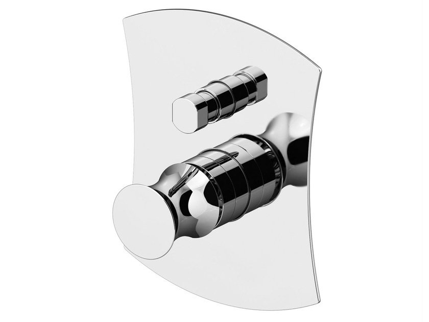 Shower mixer with diverter with plate INTERSEZIONE | Shower mixer with diverter - Gattoni Rubinetteria
