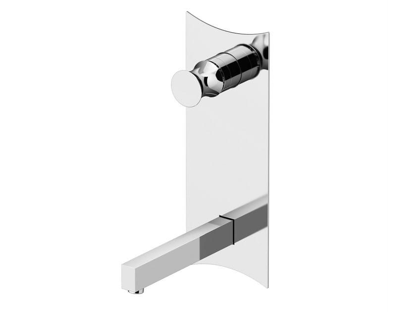 Wall-mounted washbasin mixer with plate INTERSEZIONE | Washbasin mixer - Gattoni Rubinetteria