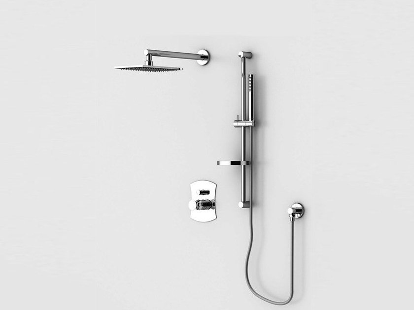 Shower panel with hand shower with overhead shower INTERSEZIONE | Shower panel with hand shower - Gattoni Rubinetteria
