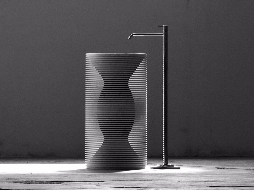 Freestanding marble washbasin INTROVERSO by Antonio Lupi Design