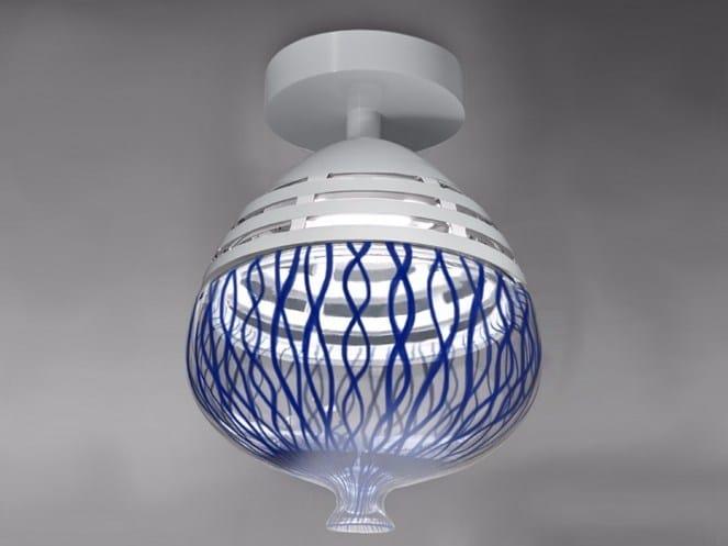 LED glass and aluminium ceiling lamp INVERO | Ceiling lamp - Artemide Italia