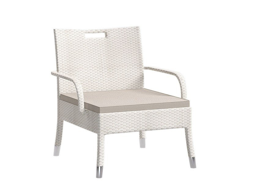 Upholstered garden armchair with armrests IRENE | Easy chair - Atmosphera