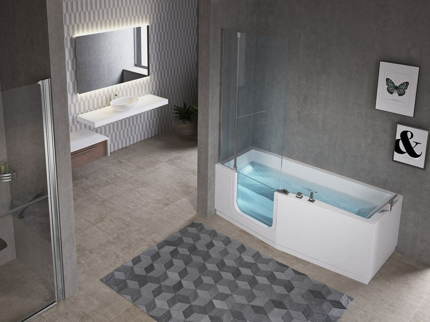 Whirlpool bathtub with door IRIS COMBY - NOVELLINI