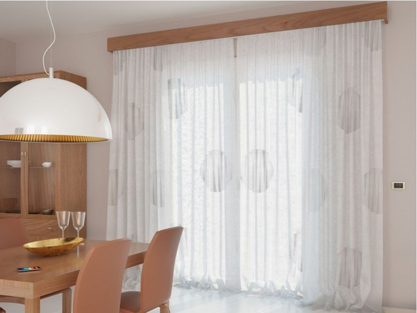 Devore fabric for curtains IRIS - FRIGERIO MILANO DESIGN