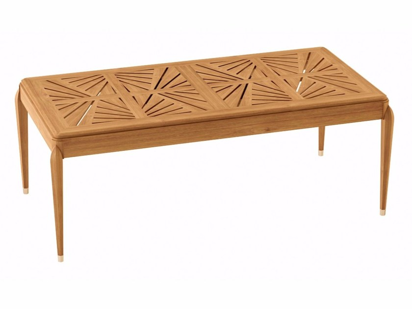 Extending rectangular teak garden table IRIS | Rectangular table - ASTELLO