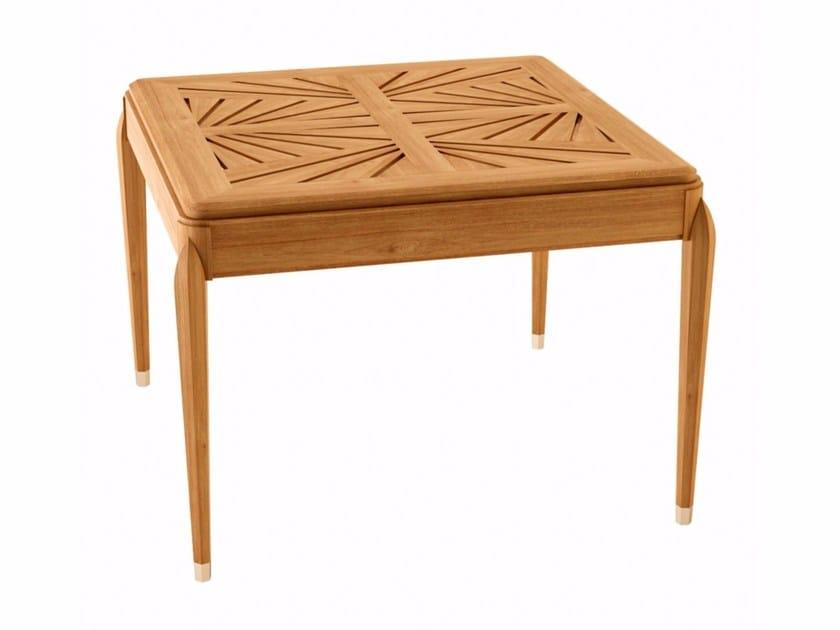Square teak garden table IRIS | Square table - ASTELLO