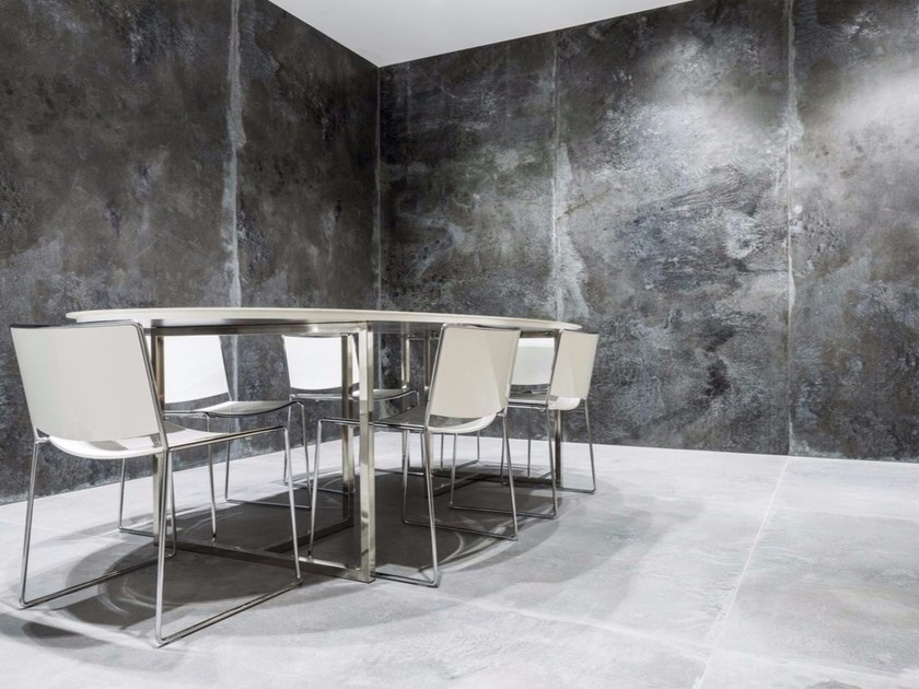 Porcelain stoneware wall/floor tiles with metal effect IRON BLACK | Wall tiles - FMG Fabbrica Marmi e Graniti