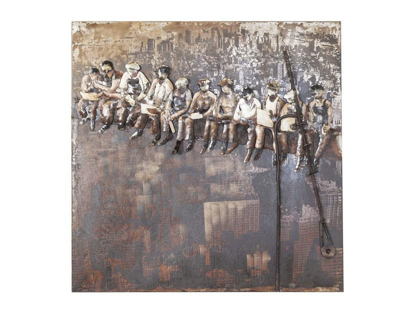 Steel decorative painting IRON CONSTRUCTION WORKERS by KARE-DESIGN