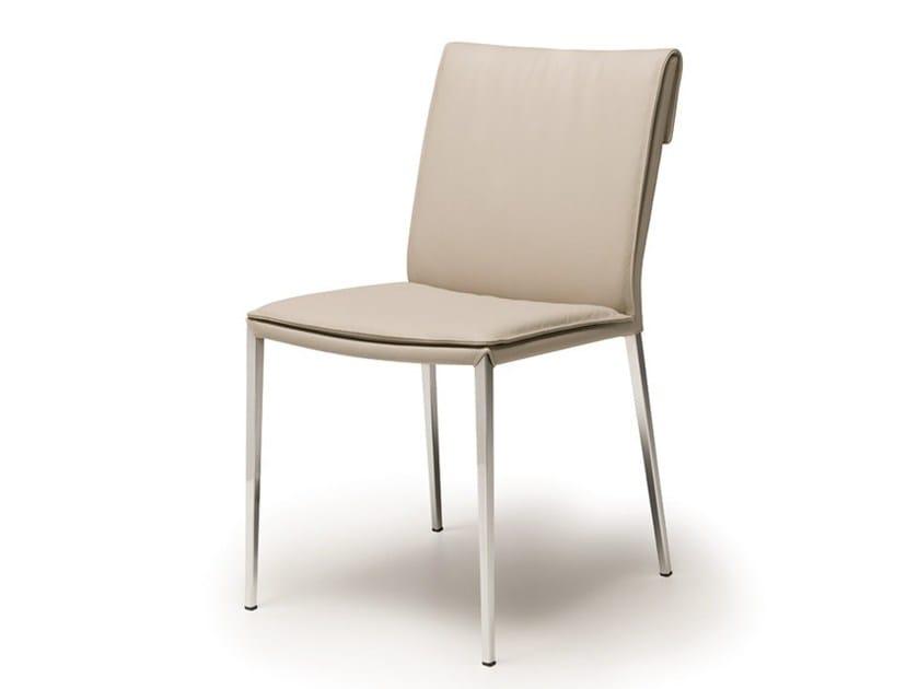 Upholstered leather chair ISABEL ML - Cattelan Italia