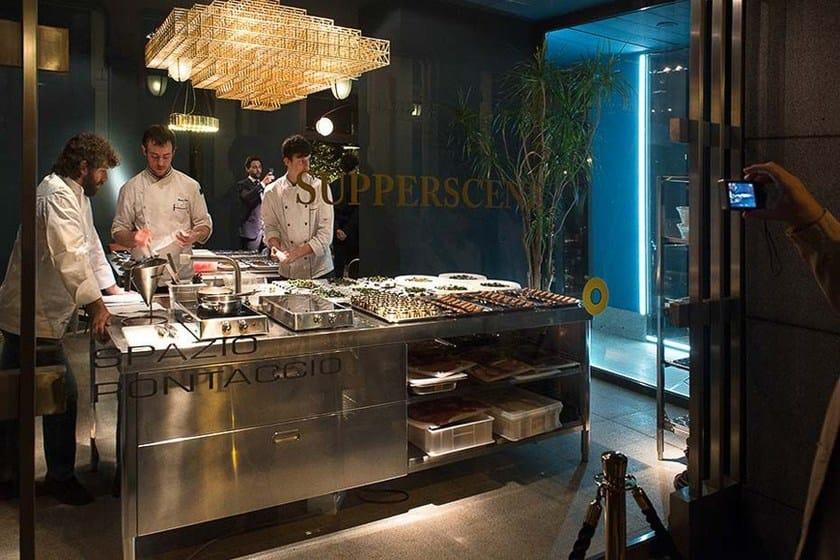 Modulo cucina freestanding in acciaio inox isola cucina for Cucina freestanding prezzi