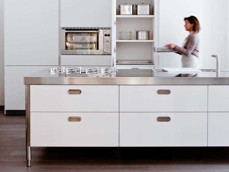 Modulo cucina freestanding in acciaio inox isola cucina - Cucina freestanding ...