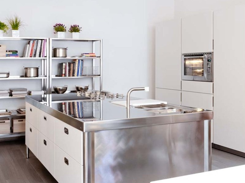 Modulo cucina freestanding in acciaio inox isola cucina - Strutture mobili cucina ikea ...