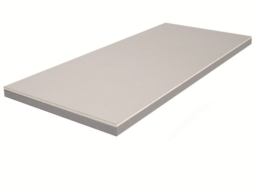 Gypsum thermal insulation panel ISOLASTRE® PSE graphite by Knauf Italia
