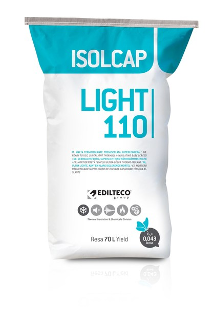 Pre-mix for thermal insulating screed ISOLCAP LIGHT 110 by EDILTECO