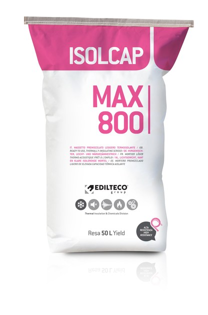 Pre-mix for thermal insulating screed ISOLCAP MAX by EDILTECO