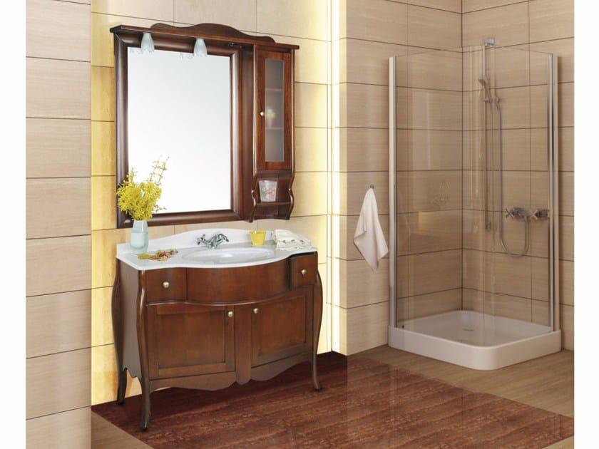 Mobile lavabo con ante con cassetti con specchio itaca la bussola - Bagno la bussola ...