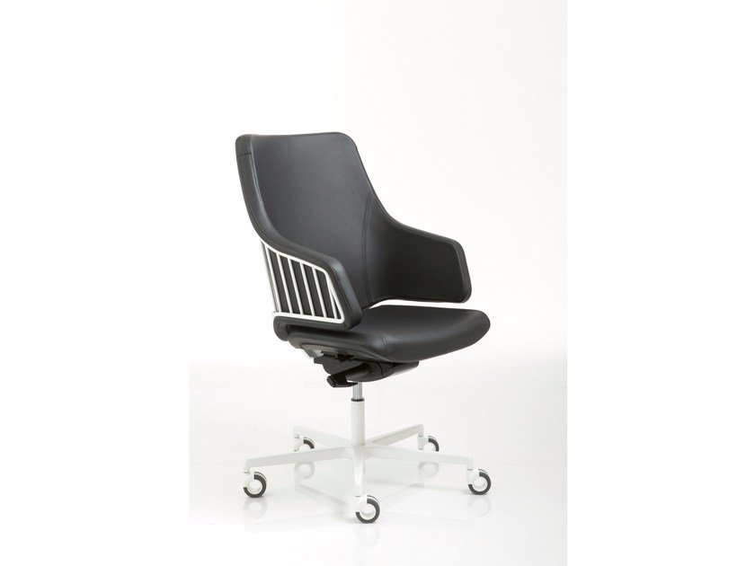 Height-adjustable task chair with 5-Spoke base with casters ITALIA | Task chair - Luxy