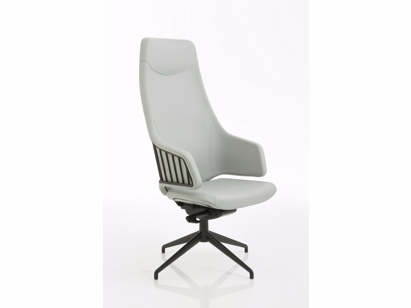 Height-adjustable executive chair with 4-spoke base ITALIA | Executive chair with 4-spoke base - Luxy