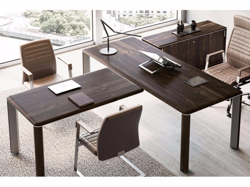 Contemporary style sectional executive desk IULIO | Sectional office desk - Las Mobili