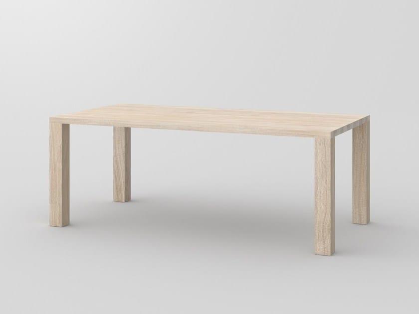 Rectangular solid wood table IUSTUS by Vitamin Design