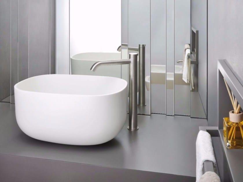 Countertop 1 hole stainless steel washbasin mixer IX | 1 hole washbasin mixer - CRISTINA Rubinetterie
