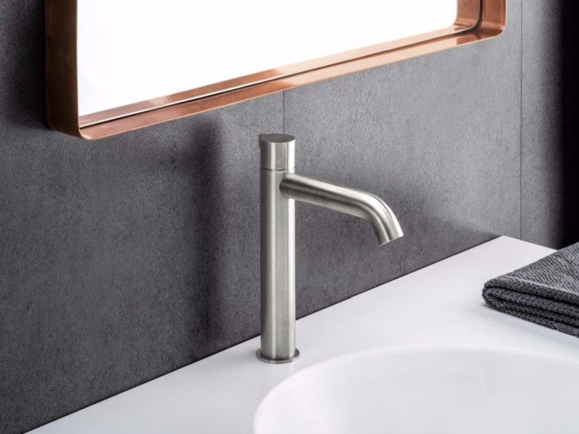 Countertop single handle stainless steel washbasin mixer IX | Stainless steel washbasin mixer - CRISTINA Rubinetterie