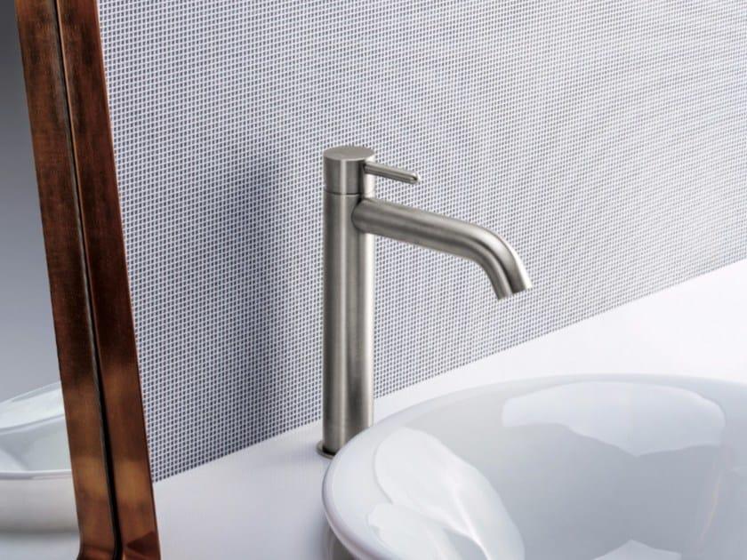 Miscelatore per lavabo da piano monocomando in acciaio inox IX | Miscelatore per lavabo - CRISTINA Rubinetterie