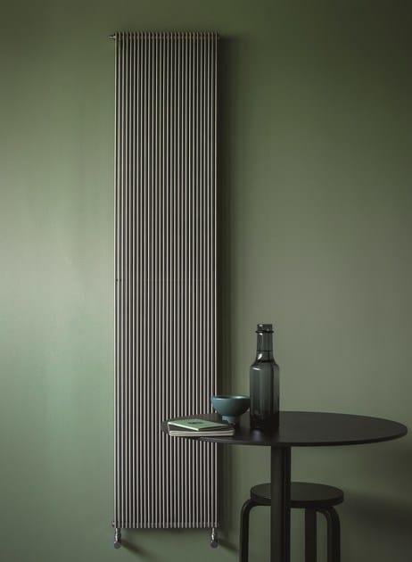 Termoarredo verticale in acciaio inox a parete ixsteel - Termoarredo verticale ...
