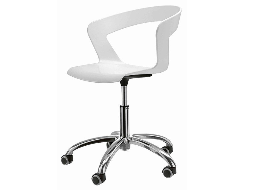 Height-adjustable chair with 5-spoke base Ibis 002R - Metalmobil