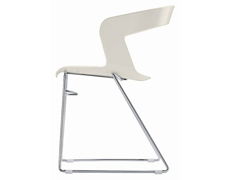 Sled base technopolymer chair Ibis 160 - Metalmobil