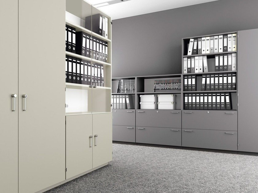 Modular office shelving J_SYSTEM | Office shelving - BALMA