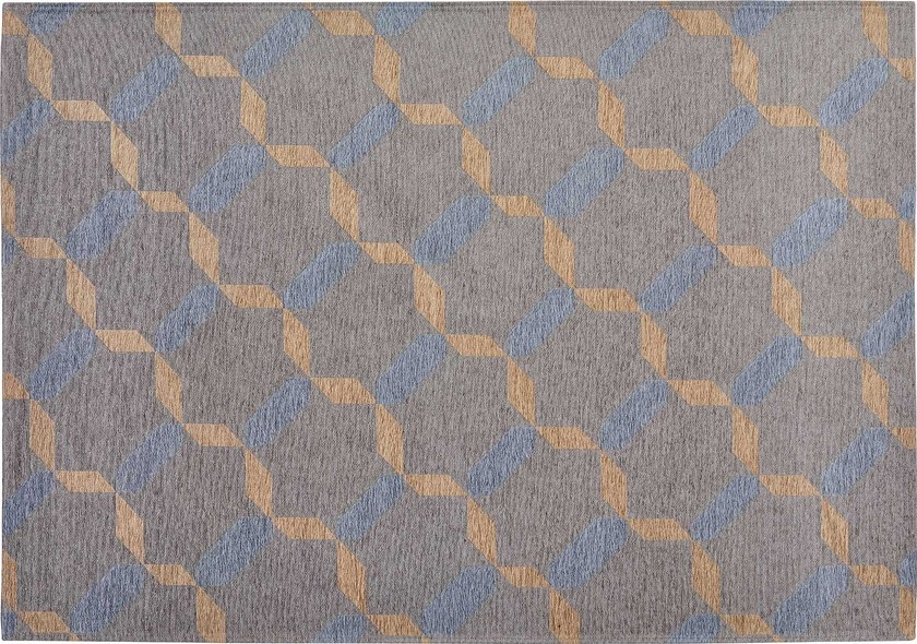 Rectangular cotton rug with geometric shapes JAKE by Italy Dream Design