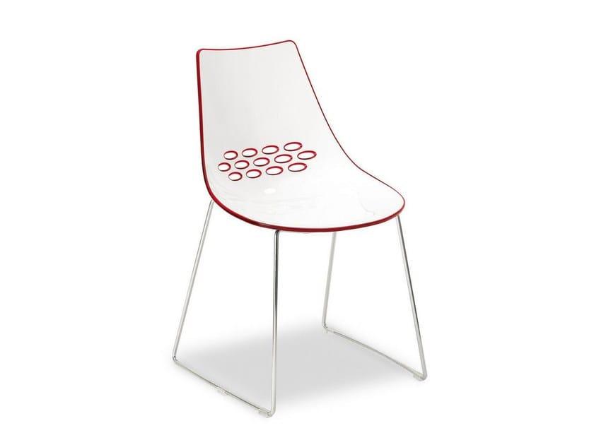 Sled base ABS chair JAM | Sled base chair - Calligaris