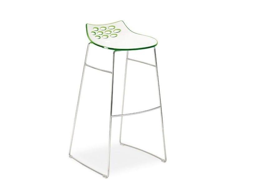 Sled base ABS stool JAM | Sled base stool - Calligaris