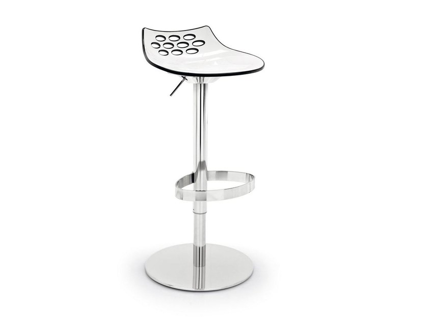 ABS stool with footrest JAM | Swivel stool - Calligaris