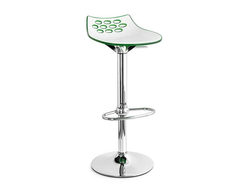 Stool with footrest JAM | ABS stool - Calligaris