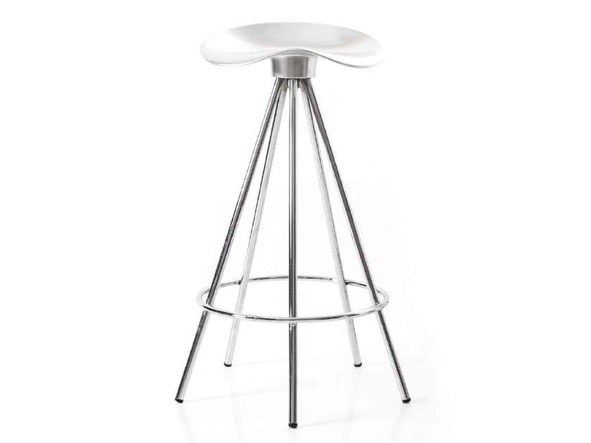Trestle-based aluminium barstool JAMAICA | Barstool - BD Barcelona Design