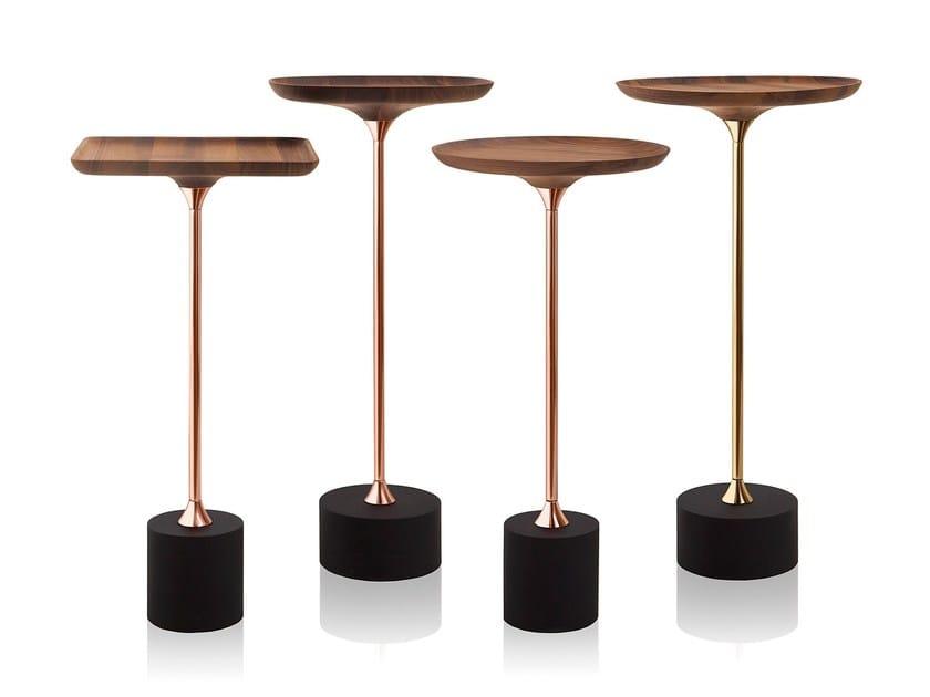 Tavolino di servizio in legno massello JARDIM - Sollos
