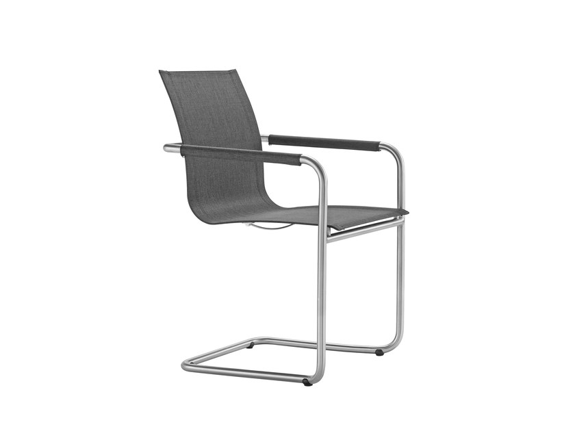 Cantilever garden chair with armrests JARDIN | Cantilever chair - solpuri